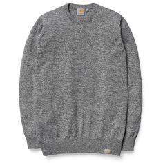 Toss Sweater Black, Broken White #jersey #modahombre #Parafernalia #CarharttWIP