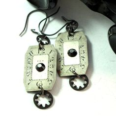 Vintage Watch Dial Earrings by Mystic Pieces