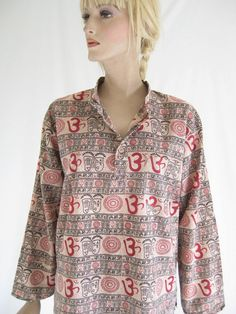 Vintage India Cotton Sheer Boho Blouse by TimeBombVintage on Etsy