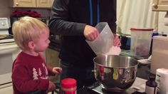 It's that time of year to bust out all your baking chops to get those holiday cookies ready for Santa Claus! While this little kid is eager to help with the baking, this cute tot is not the best at handling flour! Santa might not get too many cookies from this cute kid this year!