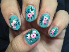| celinedoesnails: nail art inspired by the work... http://www.siempre-lindas.cl