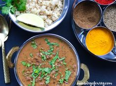 Madras Lentils/Daal Makhani - Instant Pot recipe for Tasty Bites Madras Lentils with Pot in Pot brown Rice. Also a popular North Indian Daal Makhani recipe!