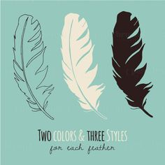 Vector Feather Clip Art // Wedding Invitations by thePENandBRUSH