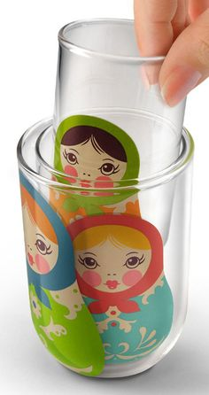Nesting Dolls Glasses