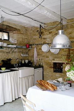 Rustic kitchen interior design - Rustic French Country Home Interior Design in Paris