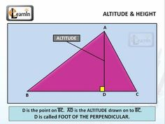 how to find altitude of a triangle formula