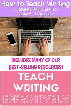 Learn how to teach writing effectively in your classroom! A perfect and easy guide to helping teachers learn how to teach writing in their elementary, middle school, and high school classrooms! Such a great price for an incredible resource!!