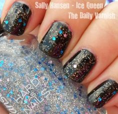 New hobby/obsession - sparkly nail polish.  Sally Hansen, Ice Queen - new favorite.