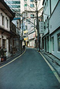 An alleyway in Seoul, Korea!