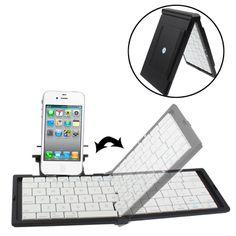 Folding Plastic Bluetooth Keyboard with Holder for iPhone 6 & / iPhone 5 & & / iPhone 4 & Mini Keyboard, Bluetooth Keyboard, Shenzhen, Leather Case, Iphone 4, Random Stuff, Plastic, Electronics, Net Shopping