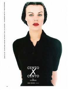 Debi Mazar ever so vampishly demure// Steven Meisel 1995// my scan