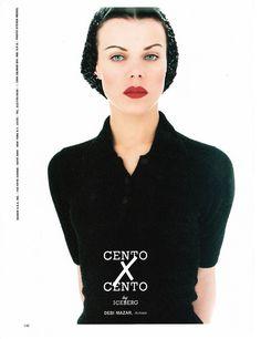 Debi Mazar ever so vampishly demure// Steven Meisel 1995// my scan