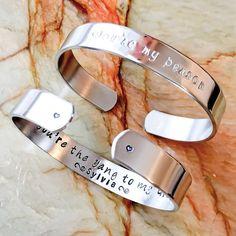 Metal Personalized Cuff Bracelet Custom by BlueCornerCreasigns