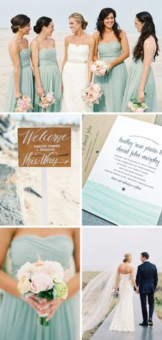 The Hadley Watercolor Wedding Invitation and Aqua Beach Wedding Inspiration