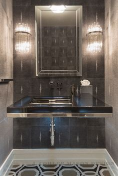 Bathrooms win with a luxurious lamp. Discover more luxurious interior design details at luxxu.net