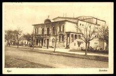 1928. Eger, Színház   Képcsarnok   Hungaricana Hungary Travel, Videos Funny, Taj Mahal, Spas, City, Gallery, Building, Castles, Painting
