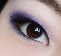 Violet glitter with a blue/violet eye