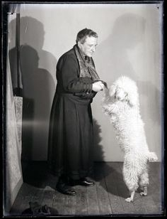 Vintage Doggy: Gertrude Stein and Basket, by Man Ray, 1926