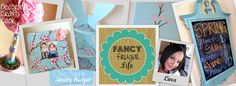 use scrapbooking paper to lacor to a shelf or frame.