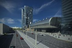 Zaha Hadid in Moscow. It is the Expo Centre exhibition halls and residential tower project