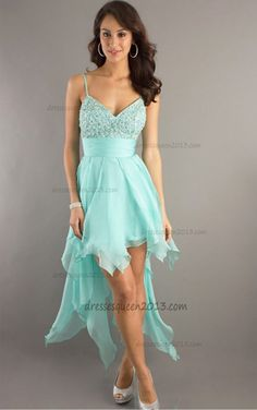b7d9689cdf A-Line Spaghetti Strap High Low Length Party Dress - HomeComing Dresses -  Special Occasion Dresses - Wedding   Events