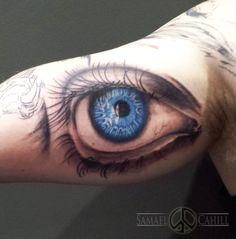 Blue eye tattoo by Samael Cahill- Toni Morrison's The Bluest Eye