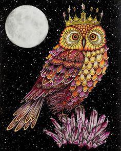Hotovo :-) #sommarnatt #hannakarlzon #coloring #coloringbook #adultcoloringbook #adultcoloring #pencils #fabercastell #polychromos #owl