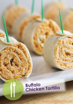 This sports party favorite is genius – Buffalo Chicken Tortilla Recipe