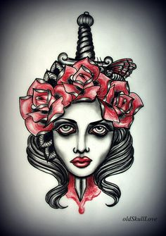Dagger tattoo design - Tattoo Designs by Mariola Weiss  <3 <3