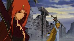 Emeraldas 「エメラルダス」 & Maya 「マーヤ」 - Illustration « L'Atlantis de ma Jeunesse » / Waga Seishun no Arcadia 「わが青春のアルカディア」 / Arcadia of My Youth (1982)