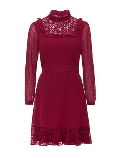 Leia Lace Dress | Scarlet | New Arrival