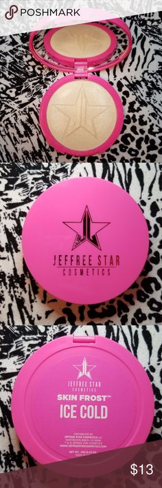 Jeffree Star Cosmetics Skin Frost in Ice Cold No Trades, Original box not included, Authentic, Gently Used, Disinfected and Clean, Only been swatched 1-5 times  I am decluttering my makeup collection, please see my other listings. Jeffree Star Cosmetics Makeup Luminizer