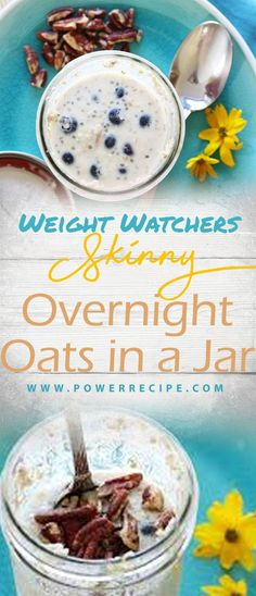 Trendy Weight Watchers Overnight Oats With Yogurt Ideas Easy Brunch Recipes, Good Healthy Recipes, Ww Recipes, Breakfast Recipes, Diet Breakfast, Breakfast Ideas, Second Breakfast, Lunch Recipes, Overnight Oats With Yogurt