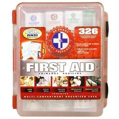 Other first aid kit- the more expensive one. $25 First Aid Kit With Hard Case- 326 pcs- First Aid Complete Care Kit