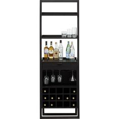 Sloane Grey Leaning Wine Bar in Dining, Kitchen Storage | Crate and Barrel
