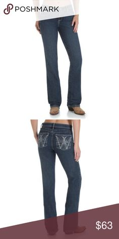b93196401 Ladies Wrangler Q-Baby Jeans Sits below waist. Angled Patch Watch Pocket.  Two