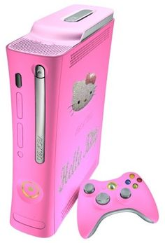 Pink Xbox 360 with Hello Kitty!!!! #iwant #pink
