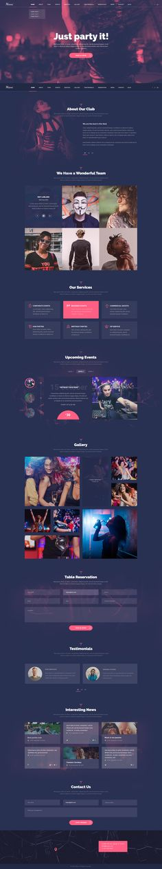 Miami - Stylish NightClub PSD Template #psd #psd template #weekend joy • Download ➝ https://themeforest.net/item/miami-stylish-nightclub-psd-template/18690586?ref=pxcr