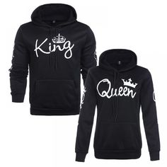 Shop a great selection of Women Couple Sweatshirt Casual King Queen Pullover Hoodie. Find new offer and Similar products for Women Couple Sweatshirt Casual King Queen Pullover Hoodie. Sweat Shirt, Printed Sweatshirts, Hooded Sweatshirts, Legging Jean, Streetwear, Matching Hoodies, Costume, Leggings, Long Hoodie