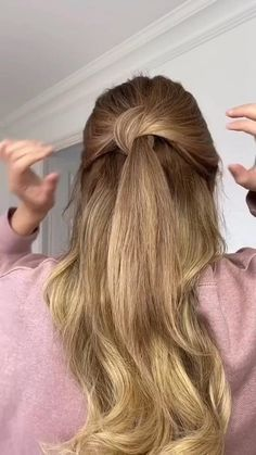 Easy Hairstyles For Long Hair, Pretty Hairstyles, Office Hairstyles, Anime Hairstyles, Stylish Hairstyles, Hairstyles Videos, Hairstyle Short, School Hairstyles, Hair Updo
