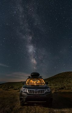 Subaru Forester in its natural habitat. 'Soobie Way' by Toby Harriman on Lifted Subaru, Subaru Forester Xt, Colin Mcrae, Pajero Sport, Night Forest, Subaru Outback, Camping Spots, Car Makes, Impreza