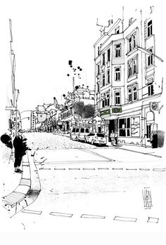 Street sketches by VAN DATA, via Behance