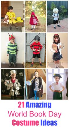 21 Awesome World book Day Costume Ideas for Kids. If you are looking for some world book day inspiration here are the best DIY book character costumes your children will love to wear at School this year.