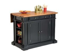 Home Styles 500394 Kitchen Island Black and Distressed