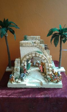 1 million+ Stunning Free Images to Use Anywhere Christmas Nativity Scene, Christmas Villages, Christmas Diy, Christmas Decorations, Nativity Sets, Xmas Crafts, Diy Crafts, Chimney Decor, Flower Video