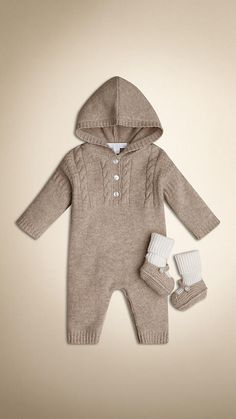 Oatmeal melange Cashmere Two-Piece Gift Set - Image 1