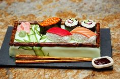 Sushi cake. Sure you wanna eat this?