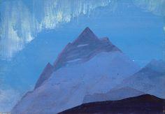 Himalaya. Pluie, huile de Nicholas Roerich (1874-1947, Russia)