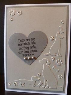 Handmade Dog Sympathy Card, Pet Sympathy