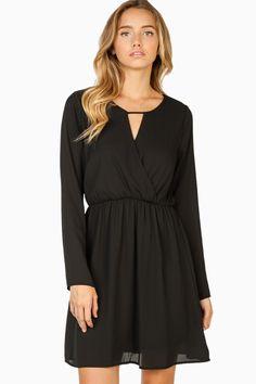ShopSosie Style : Rashel Dress in Black